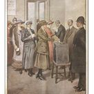 A1 Poster. Political elections in England: Women voting for