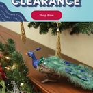 Northlight Seasonal Regal Peacock Closed Tail Feathers Figure in Brown/Blue/Green, Size 4.5