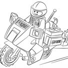 Lego Moto Police coloring page | Free Printable Coloring Pages