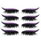 Reusable Glitter Eyeliner Eyelash Stickers - 4 Pairs Purple