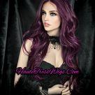 Burgundy Wine Mix, Burgundy highlights Wig, Burgundy Human Hair Wig, Lace Front Wig, Long Burgundy Wig, heat Safe, Red Wine Wig,  Deep Wine,