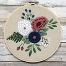 Bead Embroidery kit Flowers Poppies DIY Beadwork kit Beading kit Hand embroidery Beaded Stitching