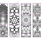 Printable Bookmarks Coloring Page book mark book lover gift   Etsy