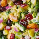 Summer Salad Broccoli Salad with Cashews, Apples, Pears, and Dried Cranberries