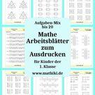 Aufgaben-Mix bis 20 - Mathe Arbeitsblätter zum Ausdrucken