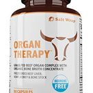 Organ Therapy - Grass Fed Beef Organ Meat Complex Supplement with Organic Bone Broth Concentrate (Beef Liver, Heart, Kidney and Bone Broth Capsules with BioPerine), 90 Capsules - 90 Count (Pack of 1)