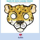 Tiermaske basteln: Leander, der Leopard