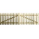 Picket Driveway Gate (Pair) - 4ft / 7ft