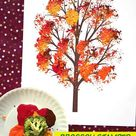 Broccoli Stamped Fall Tree - Kid Craft
