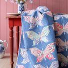 TILDA MOSAIC BUTTERFLIES Quilt Kit with Backing | Tilda Bon Voyage | Free Tilda Quilt Pattern | 58