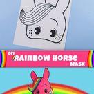 DIY Rainbow Horse Mask – Free Printable!
