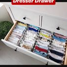 Clever Way to Organize Dresser Drawer