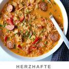 Herzhafte Sauerkrautsuppe mit Mettwurst | Kleingenuss