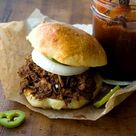 Chopped beef sandwich with a spicy barbecue sauce   Homesick Texan