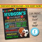 Back to School Sign - Personalized Printable DIY Template
