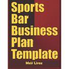 Sports Bar Business Plan Template (Paperback)