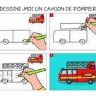 Apprendre à dessiner un camion de pompier en 3 étapes