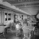 Colourised images show the luxury aboard the 'unsinkable' Titanic