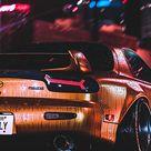 Mazda RX7, rear-view, artwork, 1080x2160 wallpaper