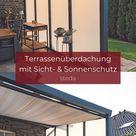 Terrassenüberdachung mit Sicht  & Sonnenschutz