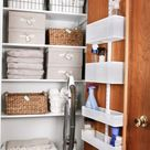 Organized Linen Closet Makeover