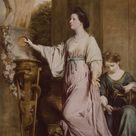 Sir Joshua Reynolds, 1765 - Lady Sarah Bunbury Sacrificing to the Graces - fine art print - Canvas print / 100x150cm - 39x59