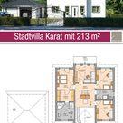 Stadtvilla - Grundriss - 213 m² - 5 Zimmer - Obergeschoss