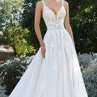 A-Linie Hochzeitskleid mit Spitze