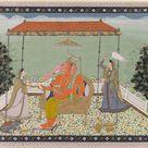 Unknown, 1775 - God Ganesa (Ganapati) with elephant trunk with two - fine art print - Canvas print / 80x60cm - 31x24