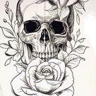 skull tattoo stencil