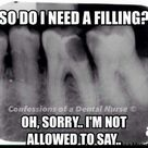Yup, hygienists aren't allowed to diagnose. Which is pretty crappy!