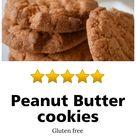 Peanut Butter cookies (Gluten Free) - EatCartwright