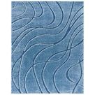 SAFAVIEH Florida Shag Collection SG471 Abstract Wave Non Shedding Living Room Bedroom Dining Room Entryway Plush 1.2 inch Thick Area Rug, 9'6