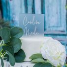 Acrylic Cake Topper, Personalized Name Wedding or Birthday Cake Top, Bridal or Baby Shower Modern Cake Topper