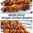 Grilled Teriyaki Chicken Skewers