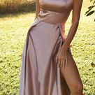 Sexy Prom Dress Slit Skirt, Evening Dress ,Winter Formal Dress, Pageant Dance Dresses, Graduation School Party Gown, PC0094 - Custom Made / Other Color