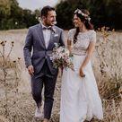 Brautpaarfoto Idee Feld