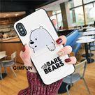 Cartoon Bear Pocket iPhone Case   White / iPhone X