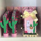 """Erika Passos - papelaria fina on Instagram: """"Caixinhas e tubetes para complementar a decoração  #festalhama #caixamilk #tubetes #cacto #lhama #scrap #llamaparty #festadeumano"""""""