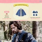 First try at making a flannel and jacket combo this is Sam Winchester from Supernatural