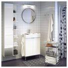 IKEA - LILLÅNGEN High cabinet with mirror door, white