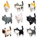 10PCS Katze Ornamente, Auto Innen, Auto Dashboard Dekoration, Home Office Zimmer Dekoration