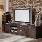 G Fine Furniture Wooden Entertainment TV Unit | Living Room Furniture with Cabinet