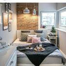 Großes Bett im Mini - Zimmer :heart: | Schlafzimmer gestalten, Schlafzimmer einrichten, Zimmer einrichten