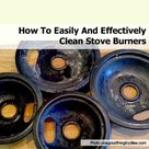Clean Stove Burners