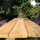 Upcycling – DIY Tisch aus alten Gerüstdielen