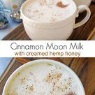 Cinnamon Moon Milk Recipe with Creamed Hemp Honey