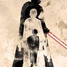 Star Wars Anakin Skywalker Becomes Darth Vader Watercolor Minimalist Movie Poster, Darth Vader Art Print