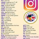 Englische Abkürzungen / Akronyme für Instagram