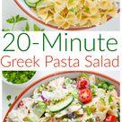 20 Minute Greek Pasta Salad   An Easy Greek Pasta Salad Recipe